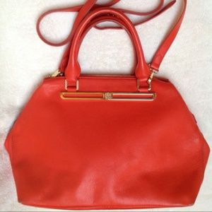 VINCE CAMUTO Orange Leather Top Handle Bag